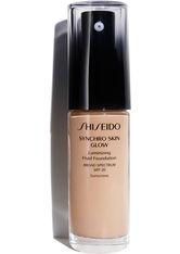 Shiseido Make-up Gesichtsmake-up Synchro Skin Glow Luminizing Fluid Foundation Nr. R3 Rose 3 30 ml