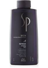 WELLA - System Professional Men Refresh Shampoo Haarshampoo  1000 ml - SHAMPOO & CONDITIONER