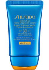 SHISEIDO - Shiseido Sonnenpflege Schutz Sun Care Expert Sun Aging Protection Cream WetForce SPF 30 50 ml - SONNENCREME