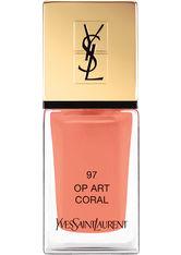 Yves Saint Laurent Spring Look 2017; Spring Look 2016; Nägel La Laque Couture (Op Art Coral)