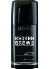 Redken - Brews Work Hard Molding Paste  - Modelliercreme - 100 Ml -