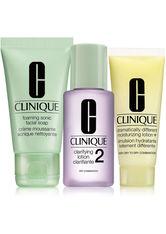 Clinique 3-Phasen Systempflege 3-Phasen-Systempflege 3-Step Trial Kit Liquid Facial Soap Mild 30 ml + Clarifying Lotion 2 30 ml + DDML+ 15 ml 1 Stk.