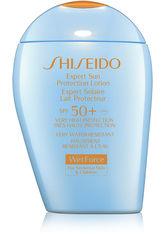 SHISEIDO - Shiseido Sun Care Expert Sun Protection Lotion WetForce SPF50+ For Sensitive Skin & Children 100 ml - SONNENCREME