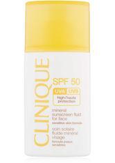 CLINIQUE - Clinique Sonnen und Körperpflege Sonnenpflege Mineral Sunscreen Fluid for Face SPF 50 30 ml - Sonnencreme
