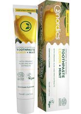 Bio Zahnpasta Whitening Zitrone Minze Nordics