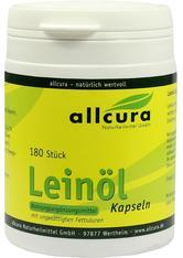 allcura Naturheilmittel Produkte Leinöl Kapseln Nahrungsergänzungsmittel 180.0 pieces