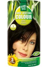 HENNA PLUS - Henna Plus Long Lasting Colour 3 Dark Brown - HAARFARBE