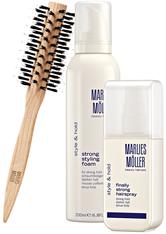 MARLIES MÖLLER - Marlies Möller Beauty Haircare Weihnachtssets Style & Hold Set Strong Styling Foam 200 ml + Finally Strong Hair Spray 125 ml + Medium Round Brush 1 Stk. - Haarserum