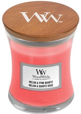 WoodWick Melon & Pink Quartz Hourglass Duftkerze  85 g