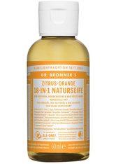 DR. BRONNER'S - Dr. Bronner's Flüssigseife Zitrus Orange 59 ml - Handseife - SEIFE
