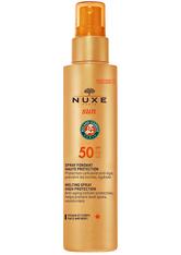 Nuxe Sun zartschmelzendes Sonnenspray Gesicht & Körper (LSF-50) 150 ml