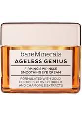 BAREMINERALS - bareMinerals Gesichtspflege Augenpflege Smoothing Eye Cream Ageless Genius Firming & Wrinkle 15 g - AUGENCREME