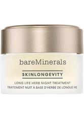 bareMinerals Feuchtigkeitspflege Skinlongevity Long Life Night Treatment Nachtcreme 50.0 g