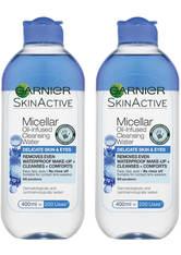 Garnier Micellar Water Facial Cleanser Delicate Skin and Eyes 400ml Duo Pack