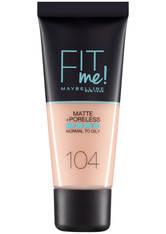 Maybelline Fit Me! Matte and Poreless Foundation 30ml (verschiedene Farbtöne) - 104 Soft Ivory