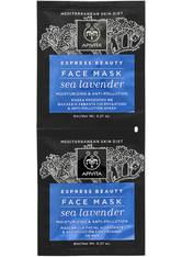 APIVITA Express Moisturizing Face Mask - Sea Lavender 2x8ml