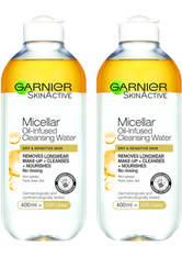 Garnier Micellar Water Oil Infused Facial Cleanser 400ml Duo Pack