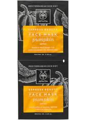 APIVITA Express Detox Face Mask - Pumpkin 2x8ml