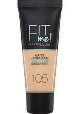 Maybelline Fit Me! Matte and Poreless Foundation 30ml (verschiedene Farbtöne) - 105 Natural Ivory