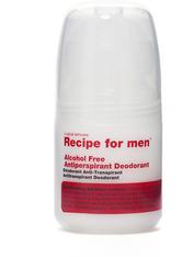 Recipe for men Produkte Alcohol Free Antiperspirant Deodorant Deodorant 60.0 ml