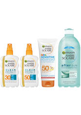 GARNIER - Ambre Solaire Family Sun Cream and Aftersun Pack SPF 30 and SPF 50 - SONNENCREME