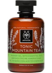 APIVITA Tonic Mountain Tea Shower Gel with Essential Oils 250ml