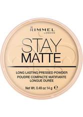 RIMMEL - Rimmel Stay Matte Pressed Powder 14g 001 Transparent - GESICHTSPUDER