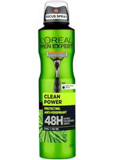 L'ORÉAL PARIS MEN EXPERT - L'Oréal Paris Men Expert Clean Power 48H Anti-Transpirant (250ml) - DEODORANT