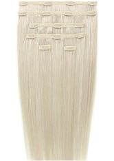 BEAUTY WORKS - Beauty Works 18  Double Hair Set Clip-In Extensions - Pure Platinum 60a - EXTENSIONS & HAARTEILE
