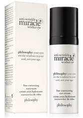 philosophy anti-wrinkle miracle worker+ line-correcting eyecream cream 15ml
