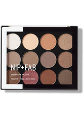 NIP+FAB - NIP + FAB Make Up Eyeshadow Palette – Sculpted 12 g - LIDSCHATTEN