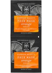 APIVITA Express Radiance Face Mask - Orange 2x8ml