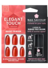ELEGANT TOUCH - Elegant Touch Nail Saviour - Bright Crimson - KUNSTNÄGEL