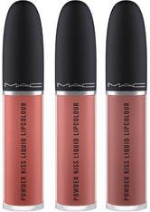 MAC Powder Kiss Nude Liquid Lip Trio