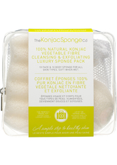 THE KONJAC SPONGE - The Konjac Sponge Company 100 % Pure Deluxe Travel Pack Duo - TOOLS - BODY