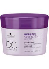 Schwarzkopf Professional Haarkur »BC Bonacure Keratin Smooth Perfect Treatment«, 1-tlg., Für widerspenstiges Haar, 200 ml