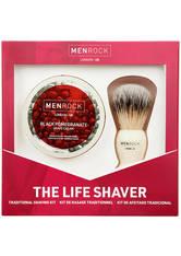 MEN ROCK - Men Rock The Life Shaver (Black Pomegranate Shave Cream, The Brush) - Rasier Tools
