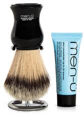 MEN-U - men-ü DB Premier Shave Brush mit Chromständer - Black - RASIERSCHAUM & CREME
