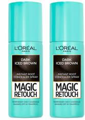 L'Oréal Paris Magic Retouch Dark Iced Brown Root Concealer Spray Duo Pack