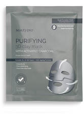 BEAUTYPRO - BeautyPro PURIFYING 3D Clay Sheet Mask With Activated Charcoal 18g - Tuchmasken