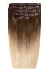 BEAUTY WORKS - Beauty Works Double Hair Set 18 Inch Clip-In Hair Extensions - #High Contrast Warm - EXTENSIONS & HAARTEILE