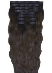 Beauty Works 22 Inch Beach Wave Double Hair Extension Set (Various Shades) - Ebony