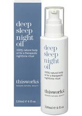 This Works - Deep Sleep Night Oil, 120ml – Körperöl - one size
