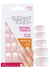 ELEGANT TOUCH - Elegant Touch Natural French Nails - 103 (M) (Pink) (Fade Tip) - KUNSTNÄGEL