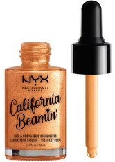 NYX Professional Makeup California Beamin' Face and Body Liquid Highlighter (Various Shades) - Bombshell