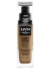 NYX Professional Makeup Can't Stop Won't Stop 24 Hour Foundation 30ml Caramel (Medium, Neutral) - NYX PROFESSIONAL MAKEUP