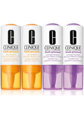 CLINIQUE - Clinique Pflege Exfoliationsprodukte Fresh Pressed 2x Daily Booster with Pure Vitamin C 10 % 8,5 g + 2x Overnight Booster with Pure Vitamin A (retinol) 8,5 g 2 x 8,50 g - TAGESPFLEGE