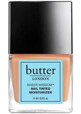 BUTTER LONDON - butter LONDON Sheer Wisdom Nail Tinted Moisturiser 11ml - Neutral - NAGELLACK