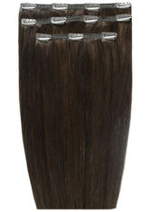 BEAUTY WORKS - Beauty Works Deluxe Clip-In Hair-Extensions 18 Zoll - Rabenschwarz2 - EXTENSIONS & HAARTEILE