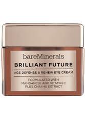 BAREMINERALS - bareMinerals Augenpflege Brilliant Future™ erneuernde Augencreme gegen vorzeitige Hautalterung 15 ml - Augencreme